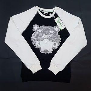 sweatshirt kenzo black white